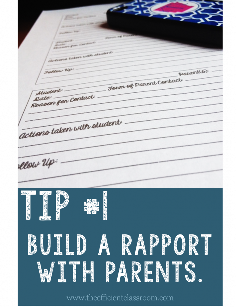 Build a Rapport with Parents