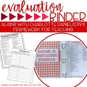 Red Evaluation Binder