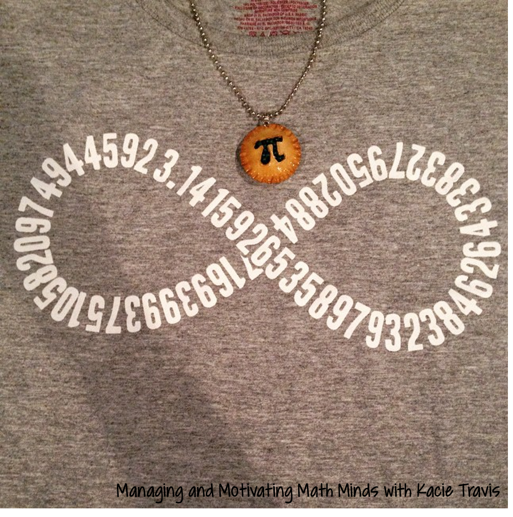 Pi Day Shirt and Necklace