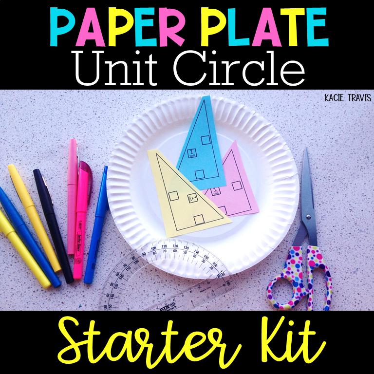 Unit Circle Paper Plate Starter Kit