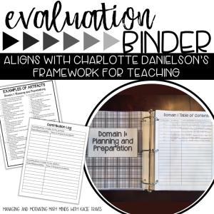 Teacher Evaluation Systems Binder
