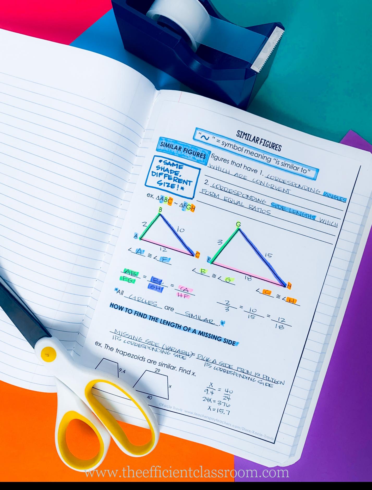 Geometry Interactive Notebooks